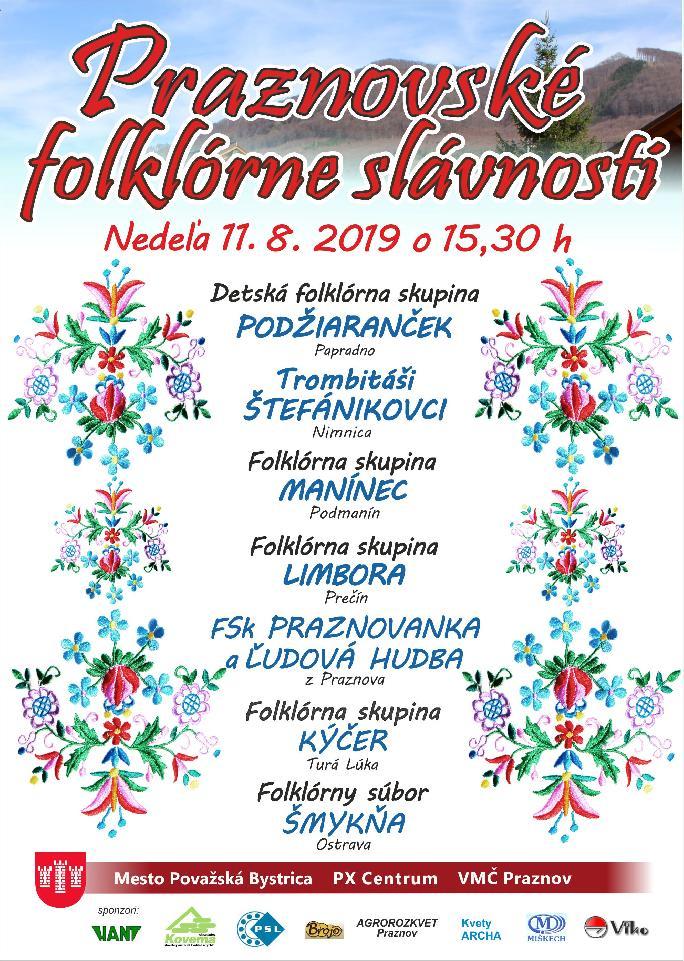 Praznovské folklórne slávnosti 2019