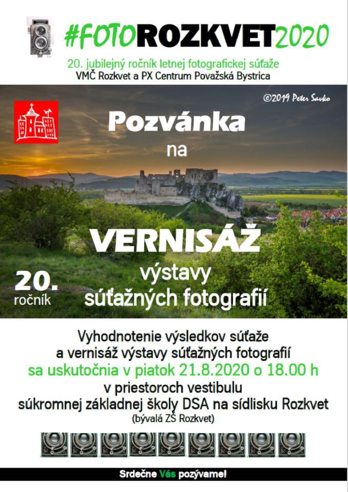 Vernisáž výstavy FOTOROZKVET 2020