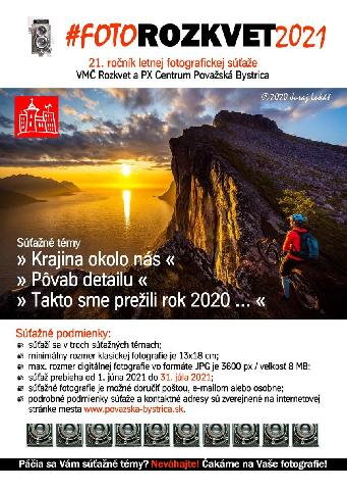 Letná fotografická súťaž FOTOROZKVET 2021
